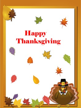 Thanksgiving, Math, Colors, color by number,