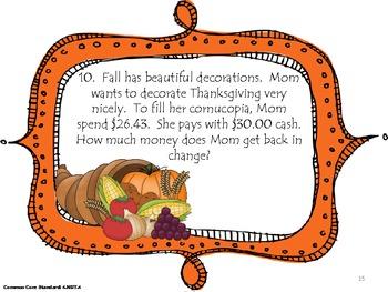 Thanksgiving Math  - Common Core Aligned