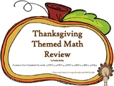 Thanksgiving Math  - Common Core Aligned