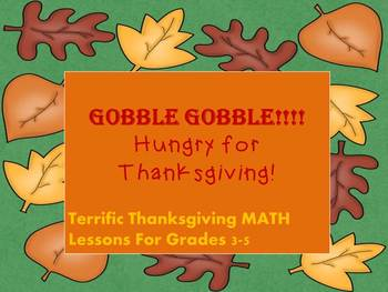 Thanksgiving Math Common Core aligned for 3rd- 5th grade