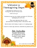 Thanksgiving Math: Compare Unit Rate of Thanksgiving Dinner Items 6.RP.3