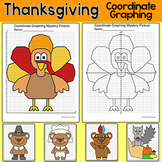Thanksgiving Math Coordinate Graphing Pictures - Plotting Ordered Pairs Activity