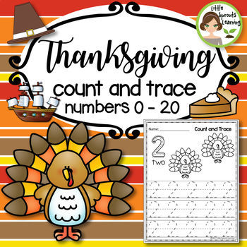 Thanksgiving Math Count and Trace 1 - 20