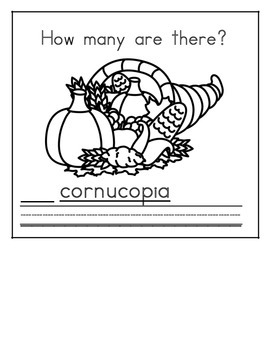 Thanksgiving Math Counting Books
