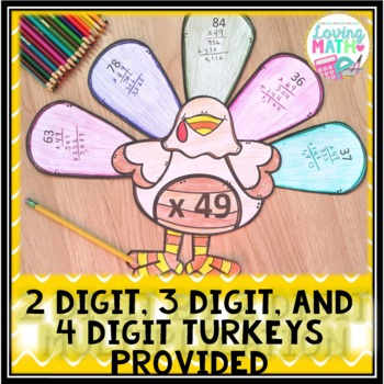 Thanksgiving Math Craft | 2 Digit Multiplication
