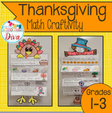 Thanksgiving Math Craftivity (1st - 3rd)
