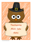 Thanksgiving Math Cube Game