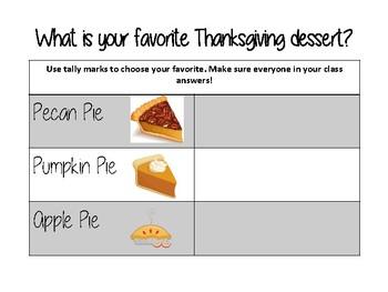 Thanksgiving Math - Data Collection