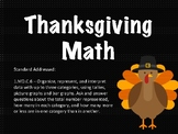 Thanksgiving Math - Data Collection