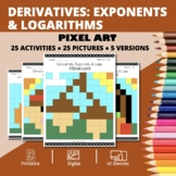 Thanksgiving: Derivatives Exponents and Logs Pixel Art Mys