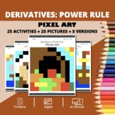 Thanksgiving: Derivatives Power Rules Pixel Art Mystery Pictures