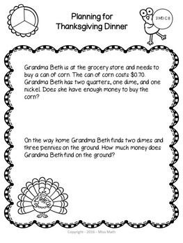 Thanksgiving Math: Differentiated Word Problems