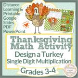 Thanksgiving Math Digital Multiplication 3rd 4th Design a Turkey