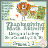 Thanksgiving Math Digital Skip Counting K 1st 2nd Design a Turkey