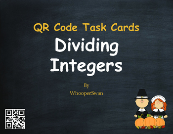 Thanksgiving Math: Dividing Integers QR Code Task Cards