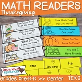 Thanksgiving Math Emergent Readers {TEKS} | Sight Word Pra