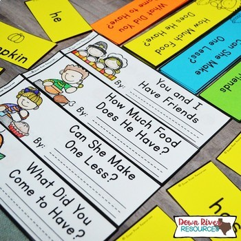 Thanksgiving Math Emergent Readers {TEKS} | Sight Word Practice | Math Skills