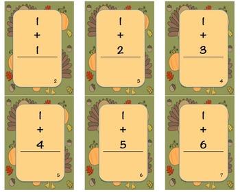 Thanksgiving Math Fact Cards