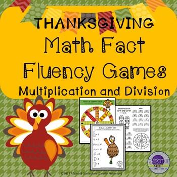Thanksgiving Math Fact Fluency Games: Multiplication and Division
