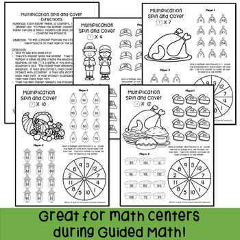 Thanksgiving Math Games: Multiplication and Division