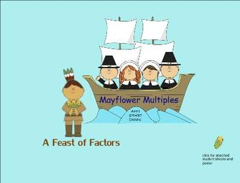 Thanksgiving Math; Factor Feast and Mayflower Multiples