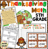 Thanksgiving Math Activities  - 5th Grade Math Games and Centers