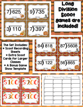5th Grade Thanksgiving Math: 5th Grade Math Games, Scoot, and Problem Solving