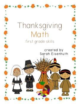 Thanksgiving Math - First Grade Skills