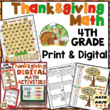Thanksgiving Math - 4th Grade