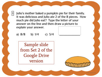 Thanksgiving Math: Fraction Task Cards for ELLs & Mainstream Students