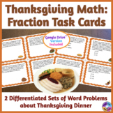 Thanksgiving Math: Fraction Task Cards for ELLs & Mainstre
