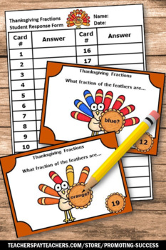 Thanksgiving Math Activities, Common Core 3rd Grade Fraction Games, SCOOT