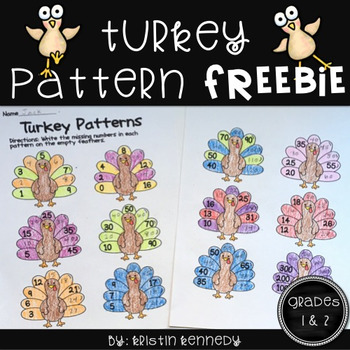 Thanksgiving Math Freebie for Grades 1 and 2