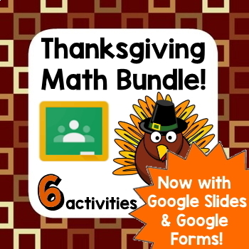 Thanksgiving Math Fun - 3 activities in 1