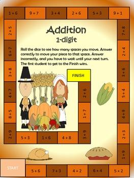 Thanksgiving Math Game Bundle