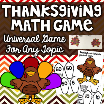 Thanksgiving Math Game- Generic Game (Any Topic)