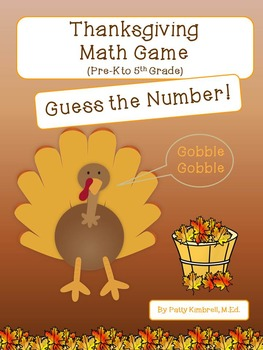 Thanksgiving Math Game Guess the Number