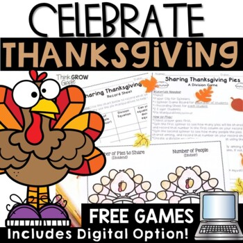 Thanksgiving Math Games Free by Third Grade Giggles