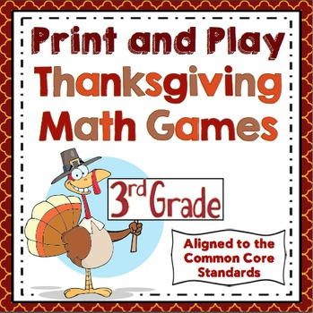 Thanksgiving Math Games - 3rd Grade