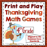 4th Grade Thanksgiving Math - 4th Grade Math Games and Centers