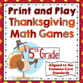 Thanksgiving Math Games: 5th Grade