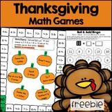 Thanksgiving Math Games FREEBIE