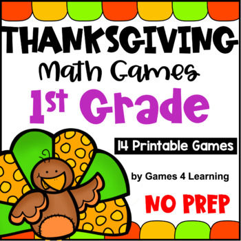 image about Printable Math Games for 1st Grade referred to as Thanksgiving Math Game titles Initial Quality: Exciting Thanksgiving Things to do