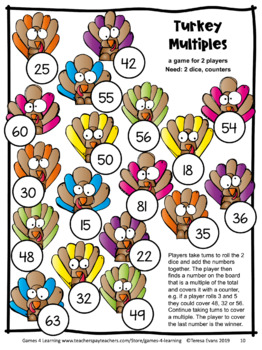 Thanksgiving Math Games Fourth Grade: Fun Thanksgiving Activities for Math