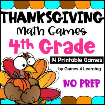 Thanksgiving Math Games Fourth Grade: Fun Thanksgiving Act
