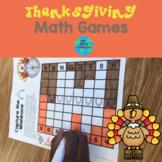 Thanksgiving Math Games: Grade 1