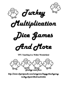 Thanksgiving Math Games - Multiplication Facts