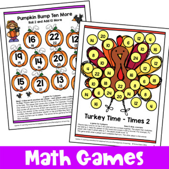 Thanksgiving Activities: Thanksgiving Math Games, Puzzles and Brain Teasers