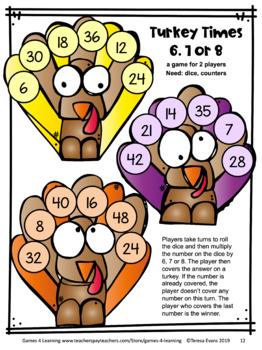 Thanksgiving Math Games Third Grade: Fun Thanksgiving Activities