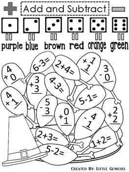 Thanksgiving Math Games for K-2~ Hands-On Fun!